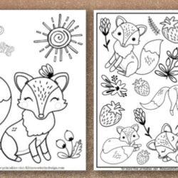 free printable fox coloring sheets