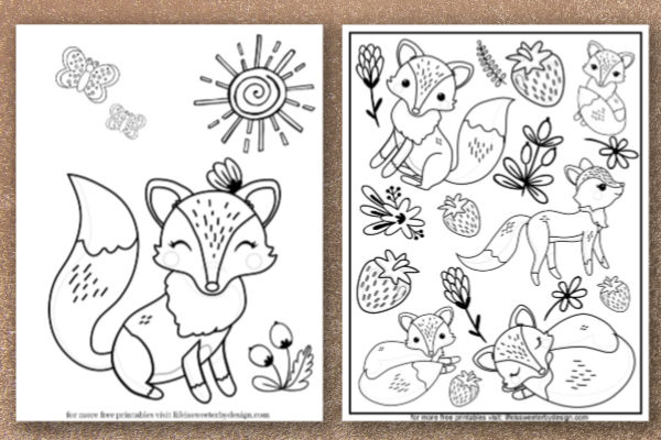 - Fox Coloring Pages - Life Is Sweeter By Design