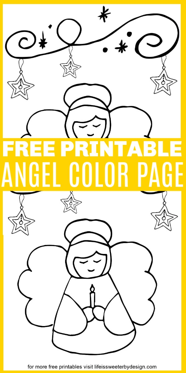 free printable angel coloring page