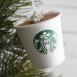 DIY Starbucks Hot Cocoa Ornament