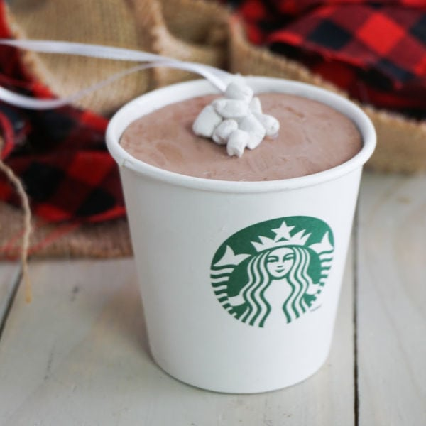 DIY Starbucks Hot Cocoa Ornament