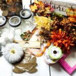 supplies needed for a Thanksgiving centerpiece