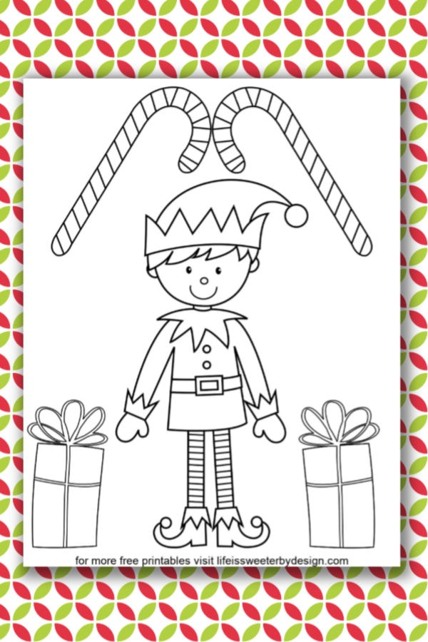 Elf Coloring Pages - Life Is Sweeter By Design
