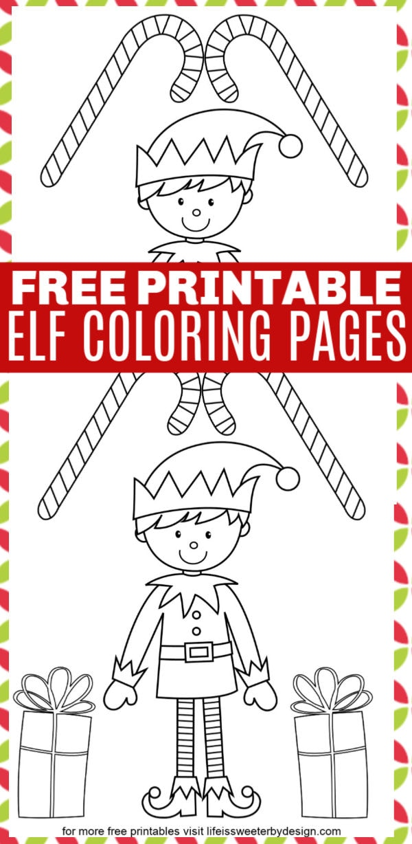 Coloring Page Elf - free printable coloring pages | 1228x600