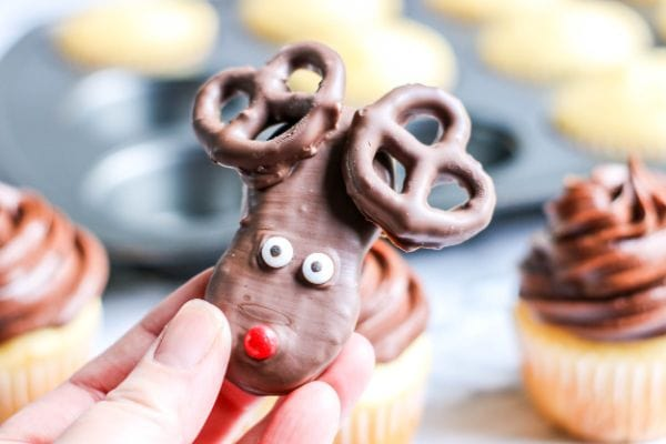 reindeer made with Nutter Butter cookies