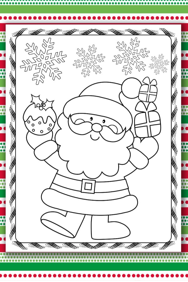 Santa Coloring Pages - Life Is Sweeter By Design