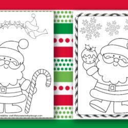 Santa Coloring Pages
