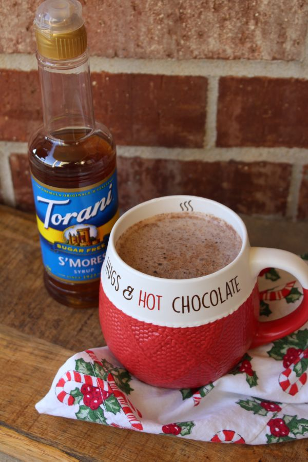 sugar-free spiced smores hot cocoa
