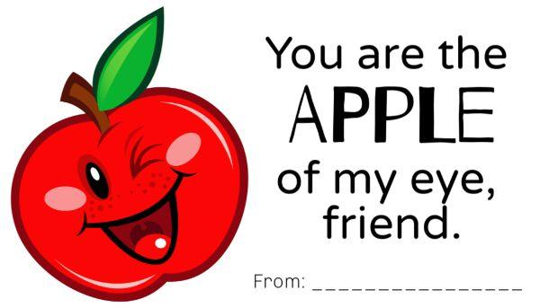 Printable Apple of My Eye Valentines