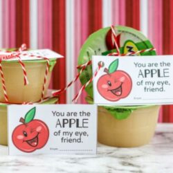 Printable Apple of My Eye Valentines for kids