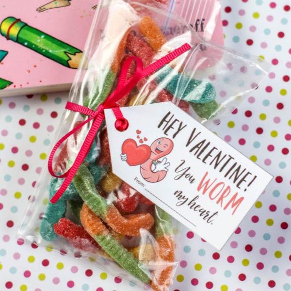 free printable gummy worm valentines