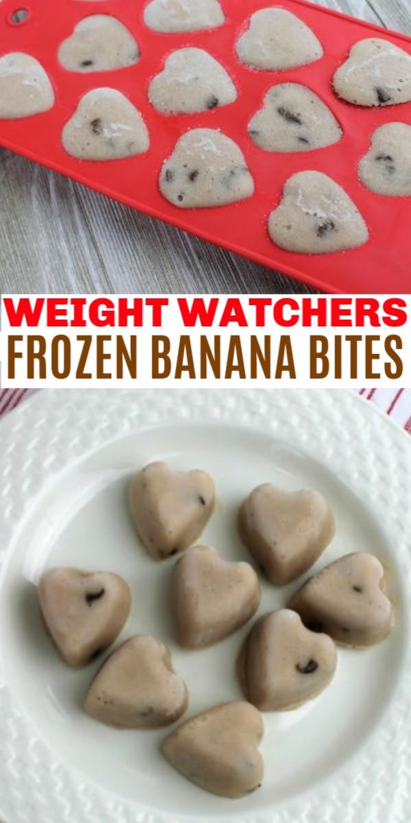 Weight Watchers frozen healthy banana bites