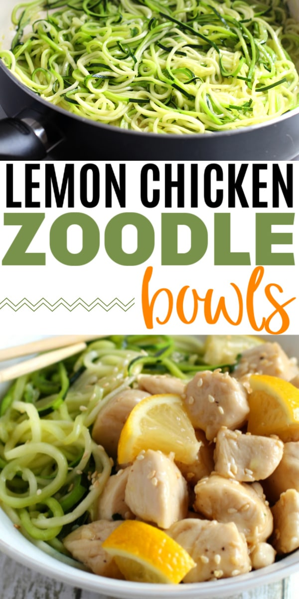 lemon chicken zoodle bowls