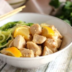 lemon chicken zoodle bowl