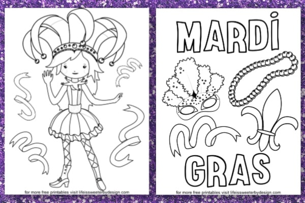 It is a photo of Terrible Mardi Gras Coloring Sheets Printable