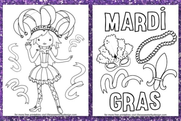 Mardi Gras Coloring Pages in 2020 | Mardi gras activities, Mardi ... | 400x600