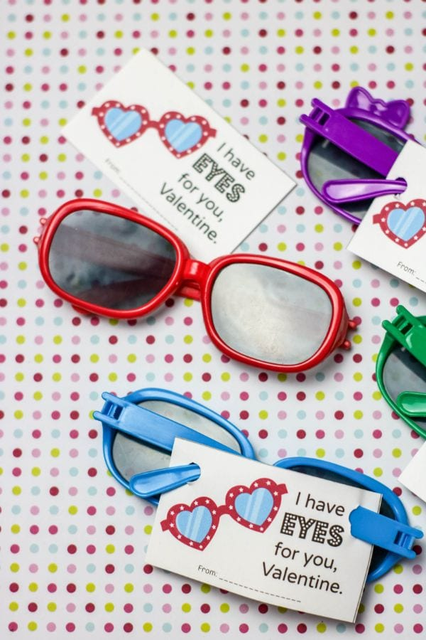 free printable sunglasses valentines for kids