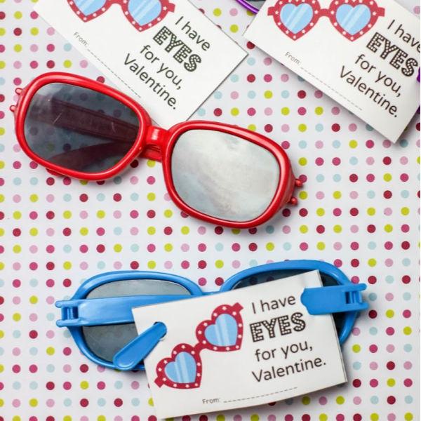 free printable sunglasses valentines