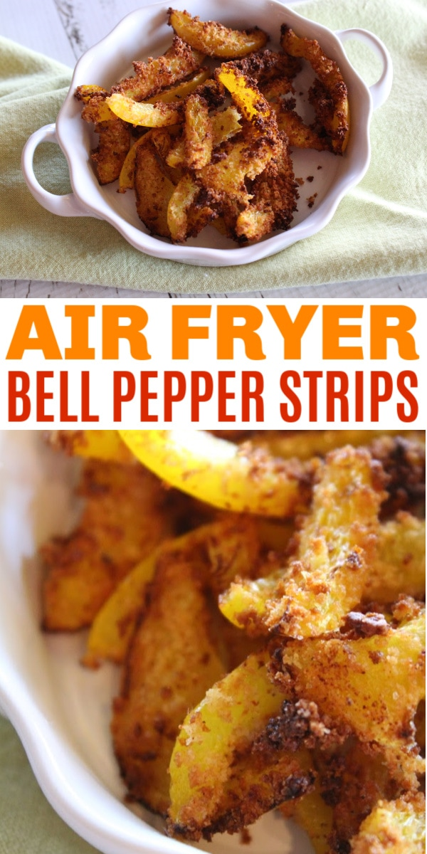air fryer breaded bell pepper strips