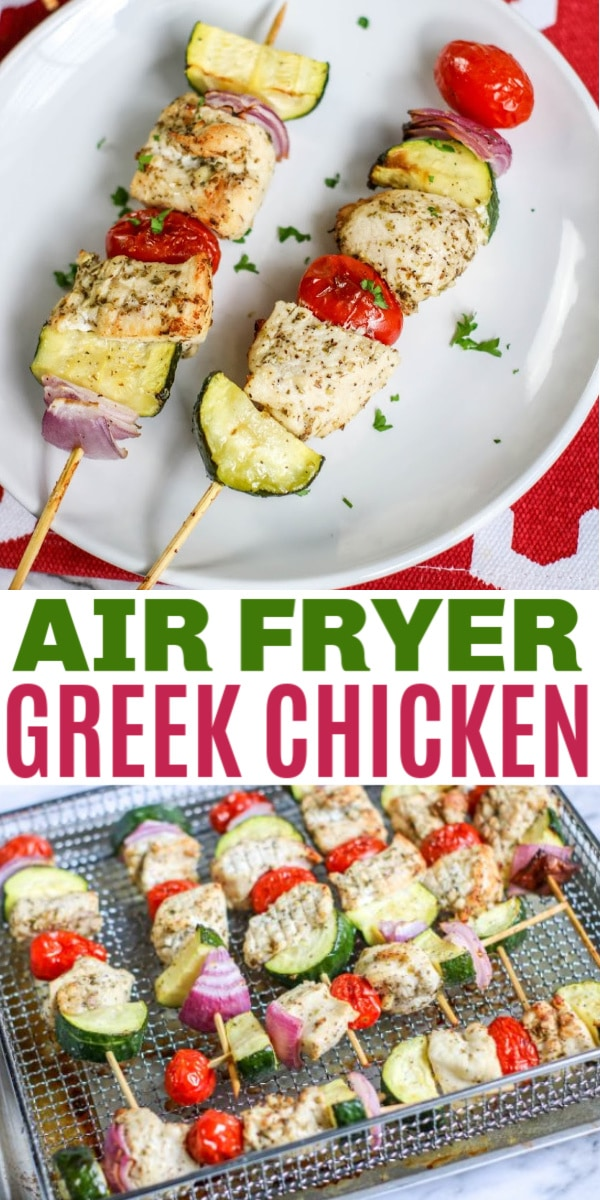 air fryer Greek Chicken Kabobs