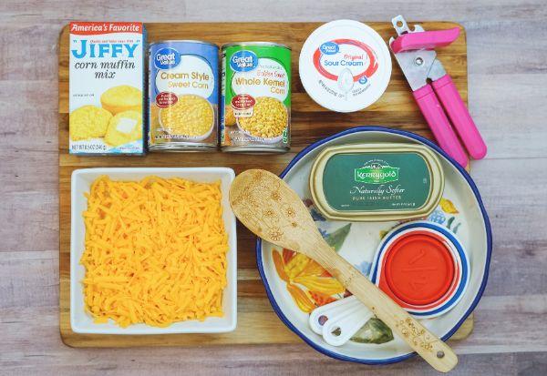 ingredients for jiffy corn casserole
