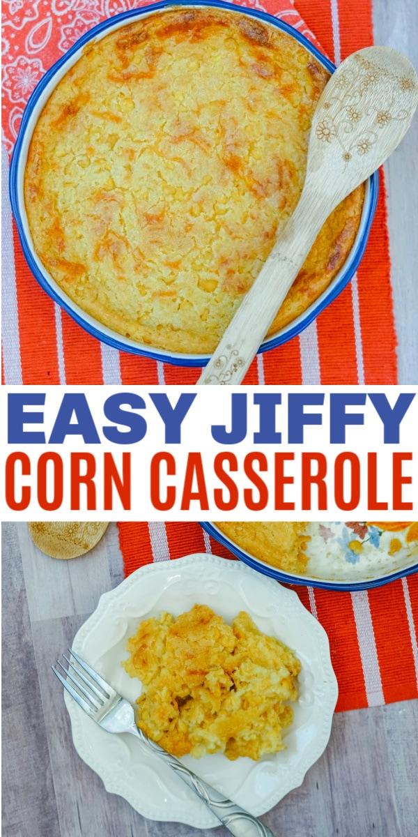 Easy jiffy corn casserole