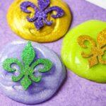 easy Mardi Gras Slime