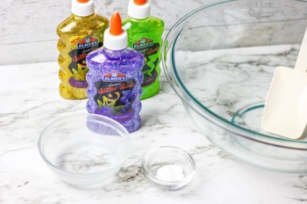 supplies needed for Mardi Gras Slime