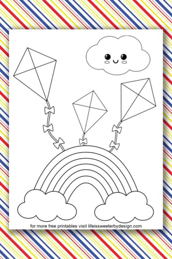 Rainbow Coloring Page - Free Printable - AllFreePrintable.com | 900x600