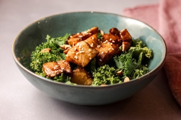 easy air fryer glazed tilapia bowls