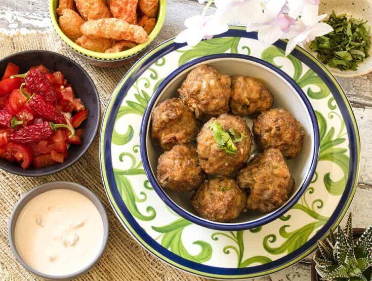 Taco Meatballs | Air Fried Keto Taco Meatballs