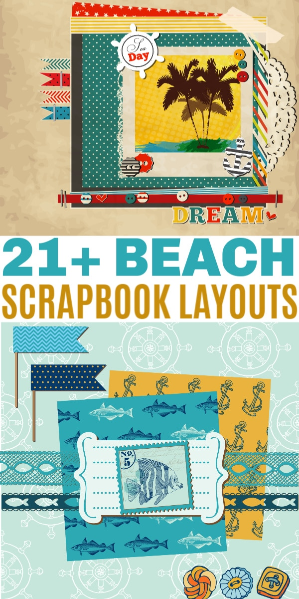 Beach Scrapbook Layouts