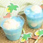blue coconut ice cream floats for kids