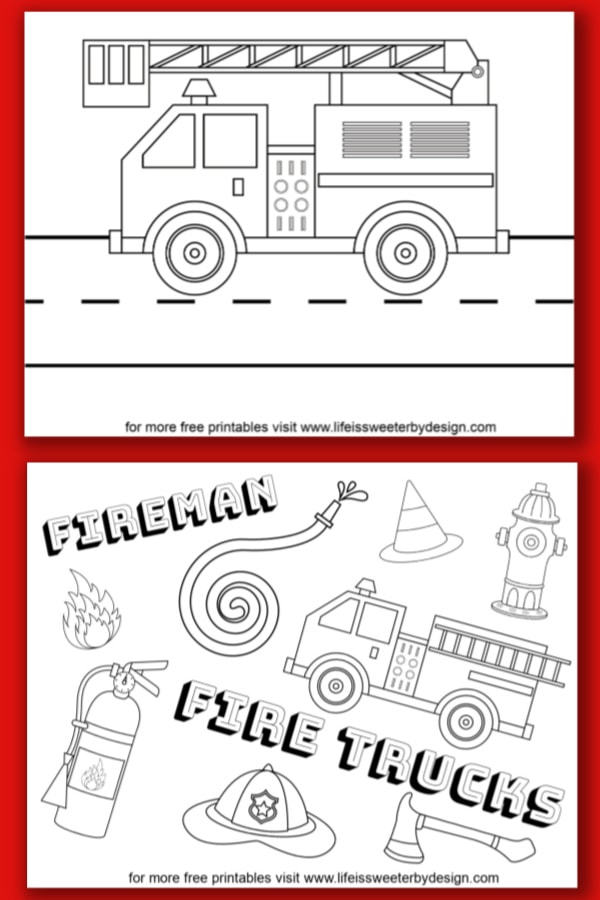 - Fire Truck Coloring Pages - Life Is Sweeter By Design