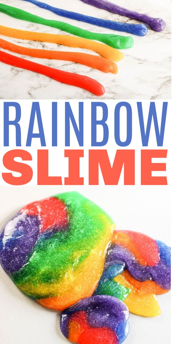 rainbow slime for kids
