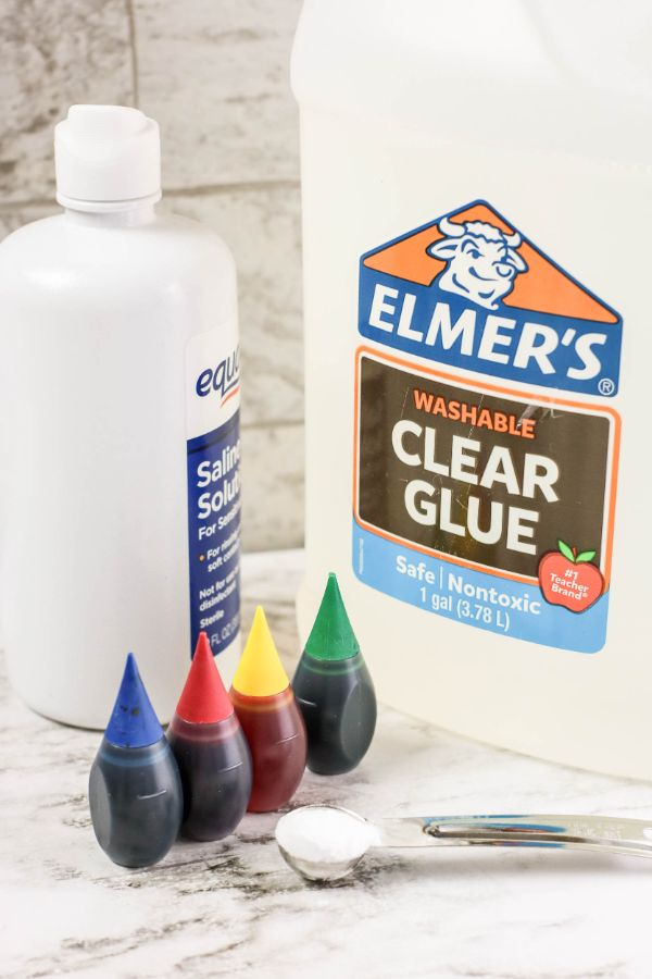 supplies needed for rainbow slime