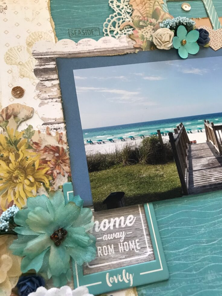 Home Away From Home Scrapbook Layout