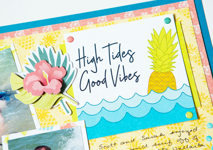 High Tides, Good Vibes Sun-Kissed Beach Scrapbook Layout