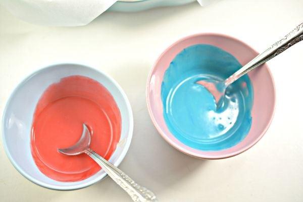 how to make swirled patriotic keto fudge