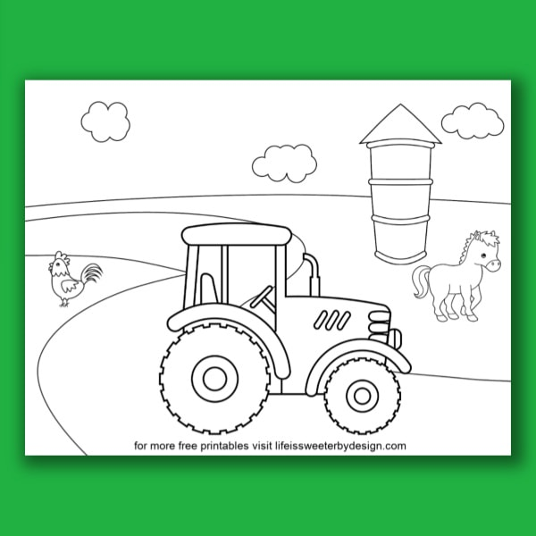 Tractor Coloring Page John Johnny Deere Tractor Coloring Page ... | 600x600