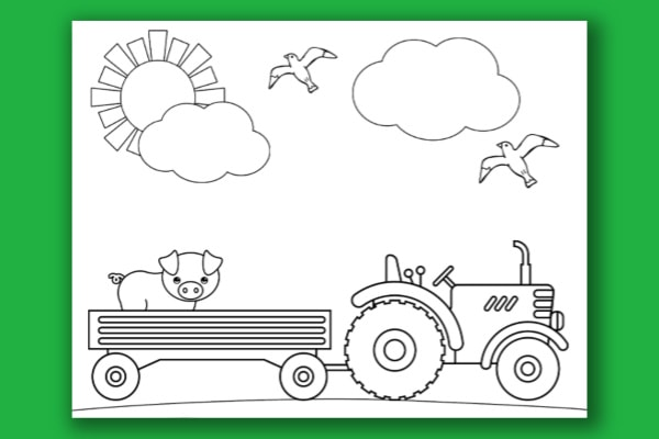 Tractor Coloring Pages - Life Is Sweeter By Design