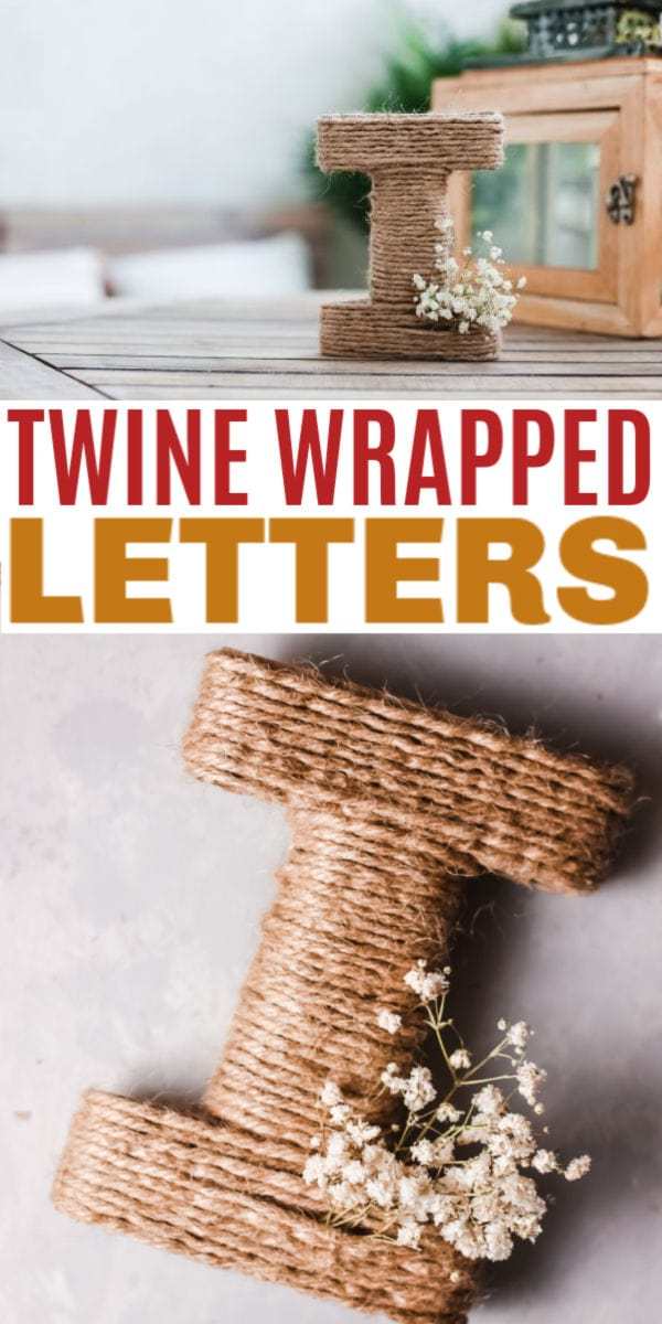 Easy DIY twine wrapped letter craft