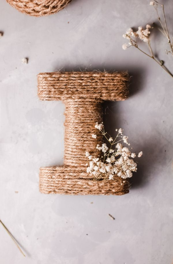 easy twine wrapped letter