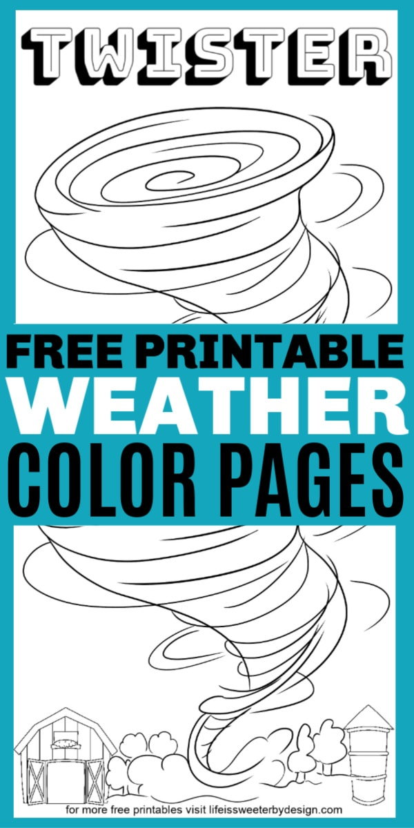 free printable weather coloring pages for kids