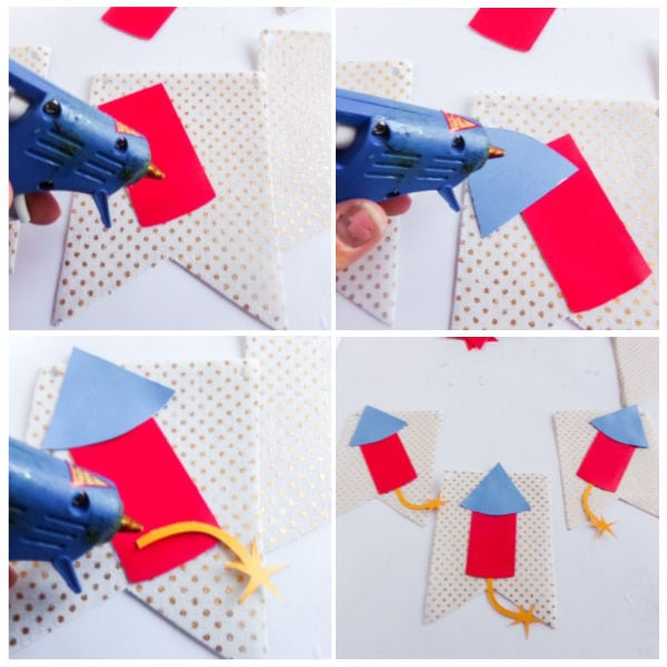 how to make a 4th of July banner with a Cricut