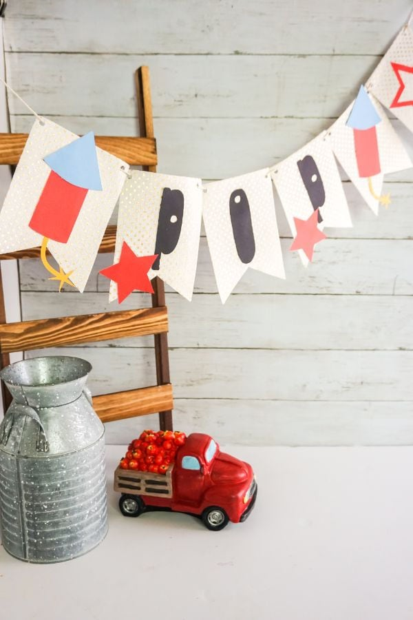 Crackle Pop 4th of July Banner