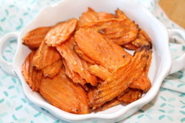 easy air fryer carrot chips