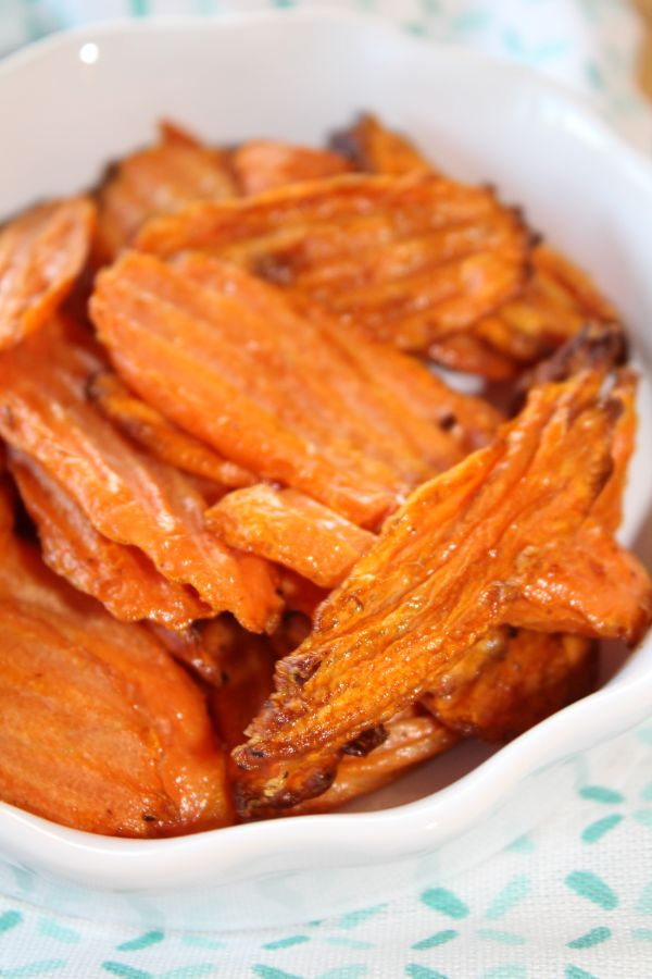 air fryer carrot chips
