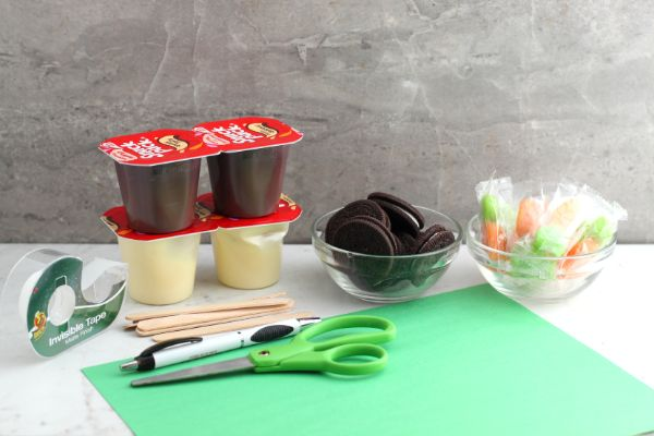 supplies for garden pudding cups