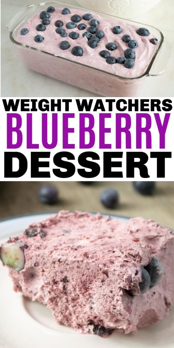Weight Watchers Blueberry Fluff Dessert